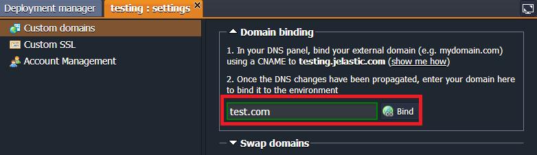 bind domain